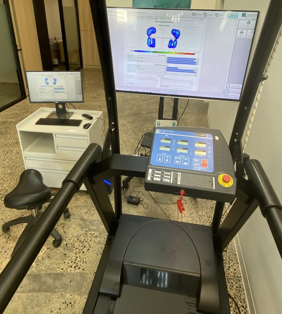 image of your view when you are using the zebris treadmill